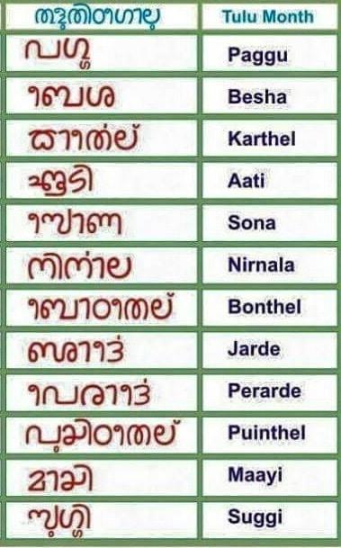 Tulu Calendar